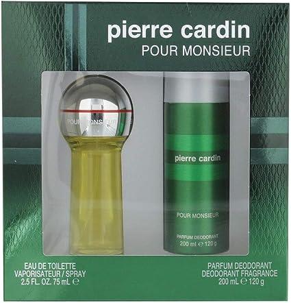 Pierre Cardin: caja para hombre, con agua de colonia 75 ml + desodorante 200 ml: Amazon.es: Belleza
