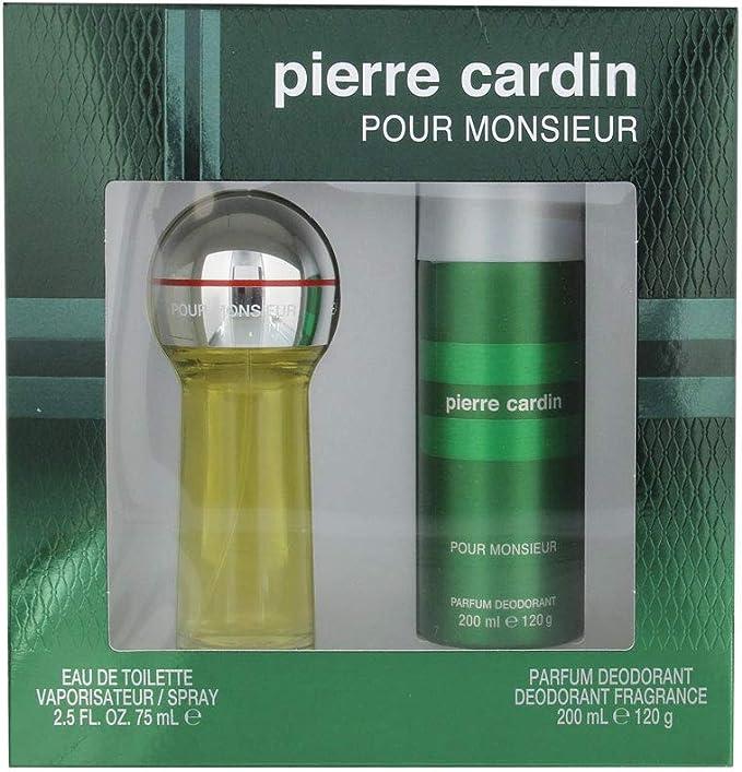 Pierre Cardin: caja para hombre, con agua de colonia 75 ml + desodorante 200 ml