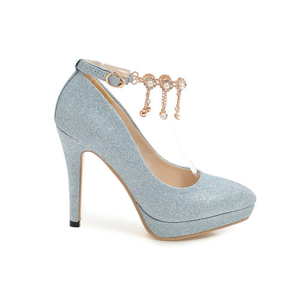 7275b93d7 Wanson Tacones Altos Lentejuelas Mujer Sexy Boca Baja Puntiaguda Tacones De  Tacón De Aguja Sandalias De Dama De Honor Calzado Nupcial Zapatos ...