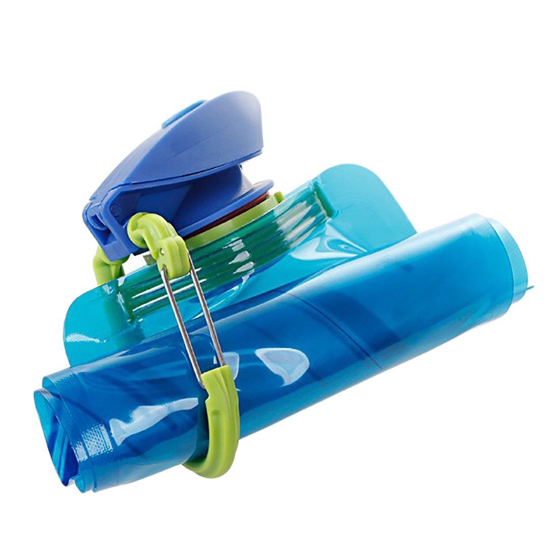 Xixik Botella 3 Pieza Plegable Botella de Agua Deportes Botella Botella Deportes Bicicleta para niños, Fitness, Gimnasio, Bicicleta, Deportes, Fútbol, ...