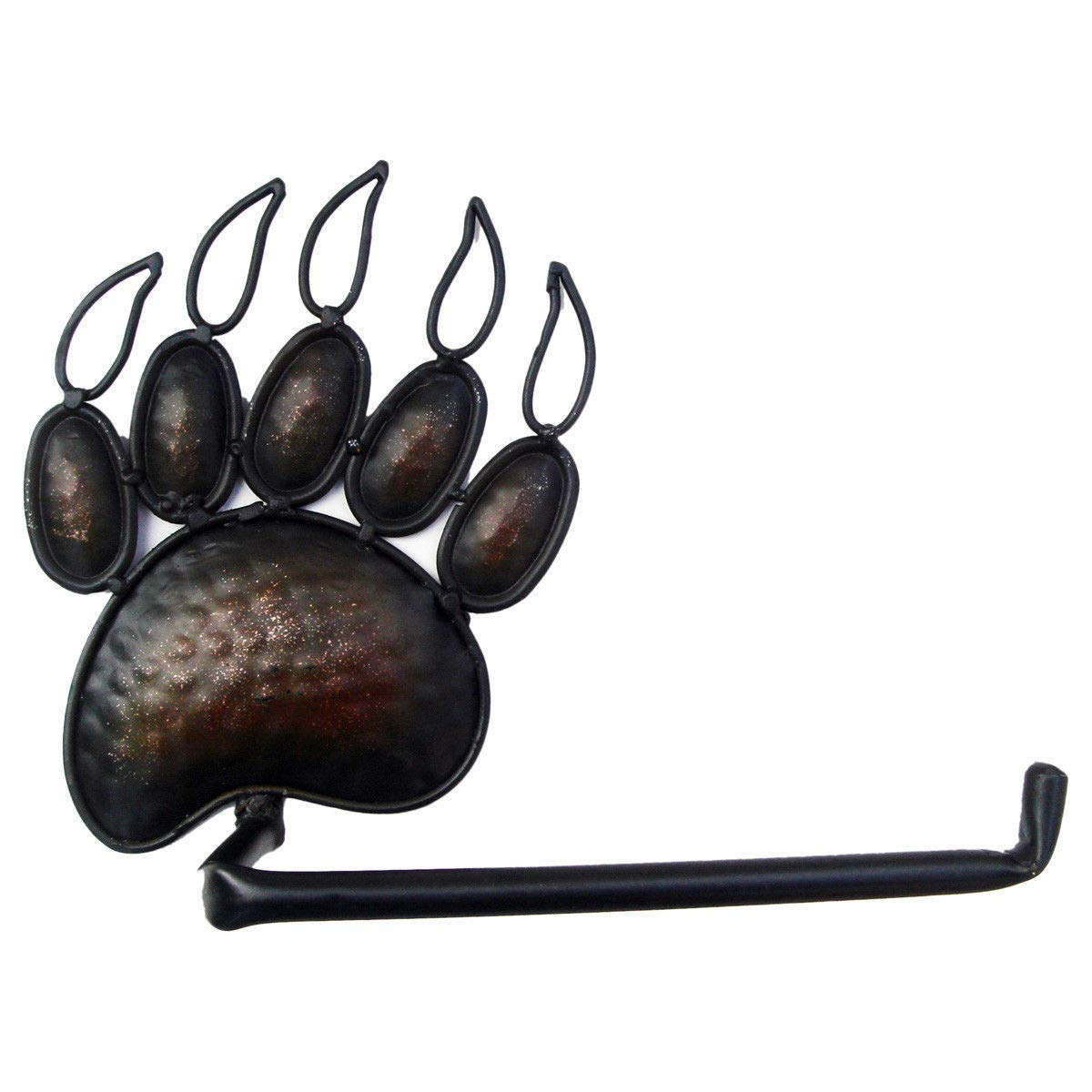 ROX Luxury House Black Bear Paw Toilet Paper TP Holder Cute Grizzly Claw Lodge Cabin Rustic Decor
