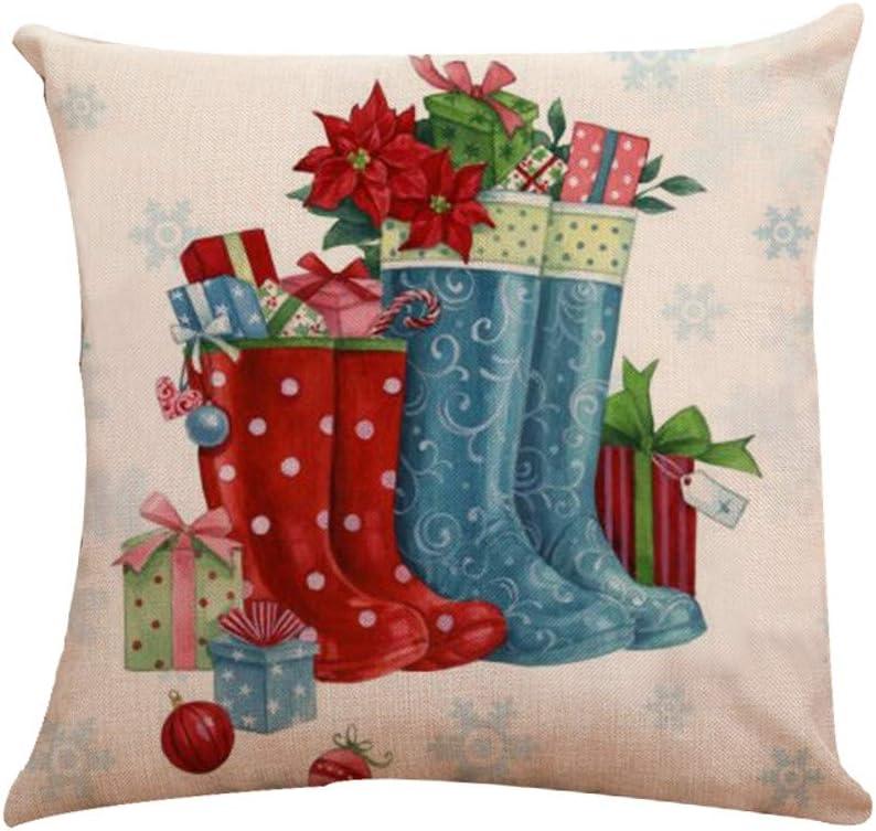 Housse de Coussin Lin Coton Accueil D/écoratifs Wapiti 45cm x 45cm Mamum D/écoration de No/ël 01A