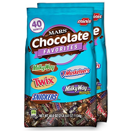 Miniature Chocolate Bars (MARS Chocolate Minis Size Candy Variety Mix 40-Ounce Bag (Pack of 2))