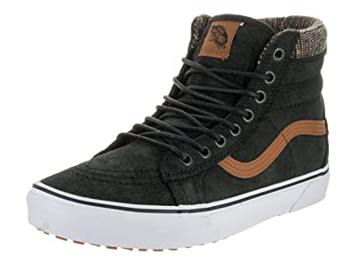 Vans V00XH4JTF Unisex SK8-Hi MTE Skate Shoes, Black/Tweed, 7.5 B