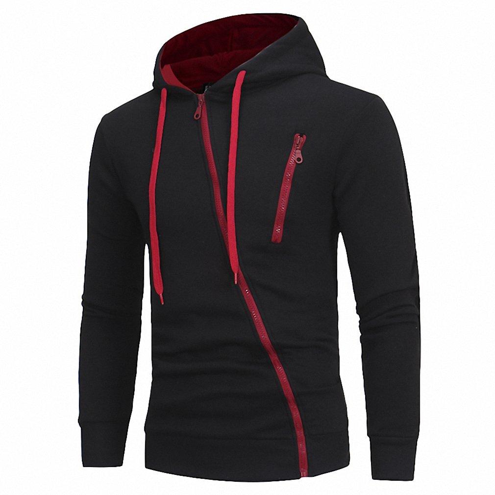 Fashion Men Hoodies Brand Leisure Men Sweatshirt Hoodie Casual Oblique Zipper Hooded Jackets Male Hoodies M-XXXL