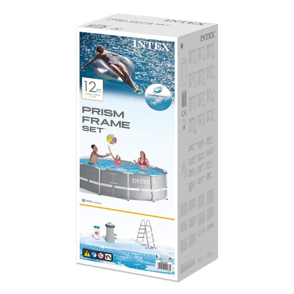 Intex 26716NP Piscina Redonda Desmontable, con depuradora, 366 x 99 cm