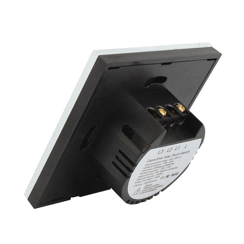 Techkoo 1-Weg Lichtschalter wasserabweisende Touch Sensor Panel ...