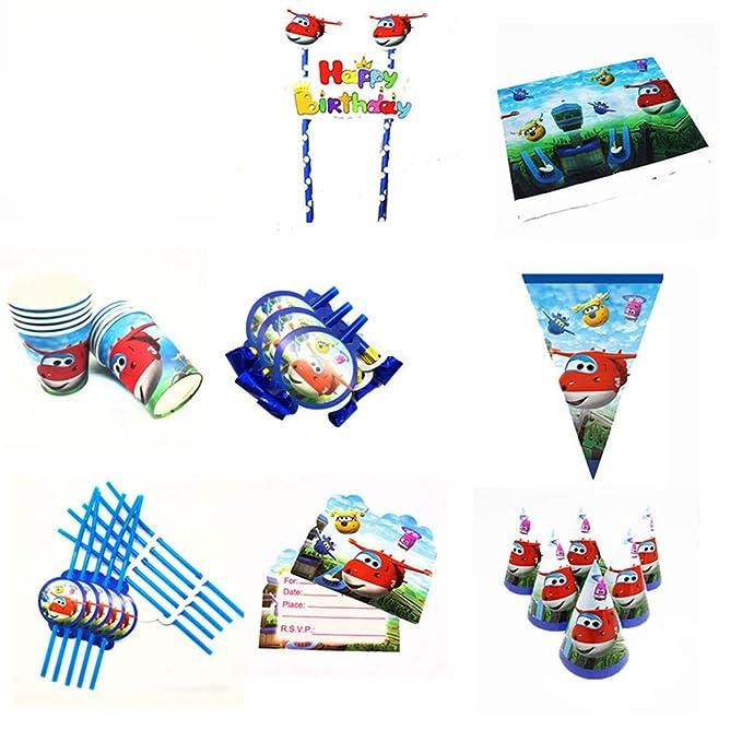 QAnter 75PCS Super Wings Tema Decoraciones de Fiesta de ...