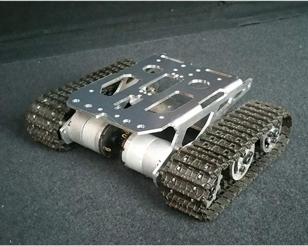 Aleación De Aluminio De Metal Inteligente Robot Chasis con Doble Motor, Tanque De Oruga Orugas Plataforma del Robot para El Robot De Montaje De Bricolaje Ardunio