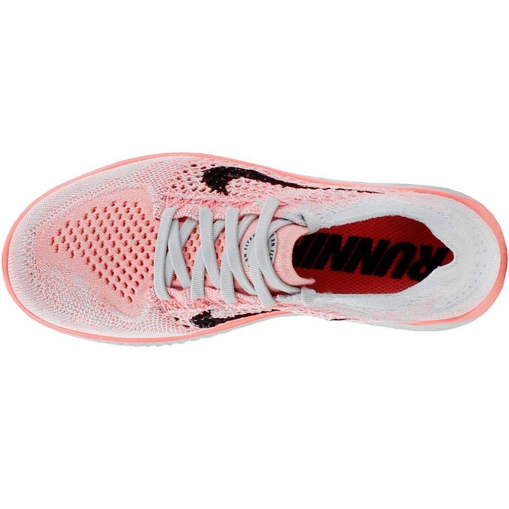 Nike Women's Free Rn Flyknit 2018 Crimson Pulse/Black Ankle-High Running Shoe - 5.5M by Nike (Image #6)