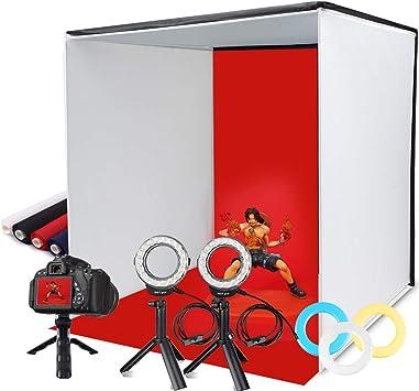 SAMTIAN Portable Light Tent 16/'/'x16/'/'x16/'/' Photo Light Box Studio Shooting Tent