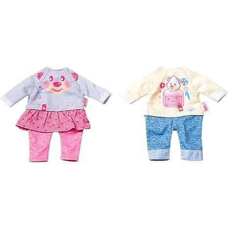 Puppenkleidung 36cm Pink Strampler little Baby Born Kleider Kleidung Klamotten Babypuppen & Zubehör Kleidung & Accessoires