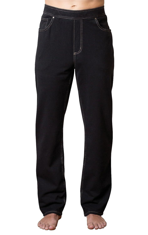 PajamaJeans Men's Straight Leg Knit Denim Jeans in Black The PajamaJeans Company GKPJ03664