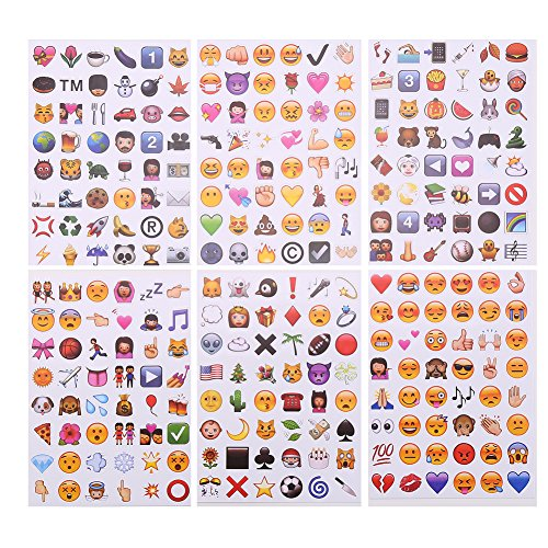 DECORA Modern Emoji Stickers 288 of the MOST POPULAR EMOJIS Drop Shipping Toy for Kids Children Drop Shipping