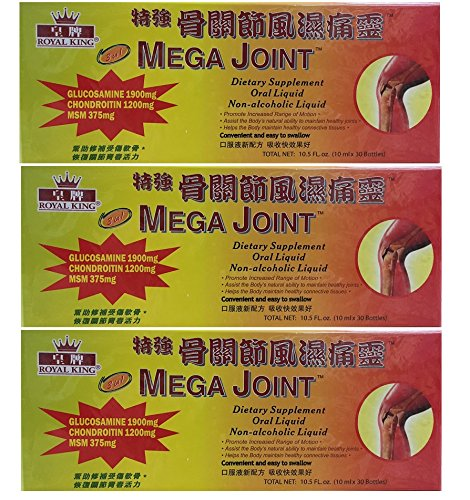 3 Boxes Mega Joint Dietary Supplement Liquid Glucosamine and Chondroitin (3)