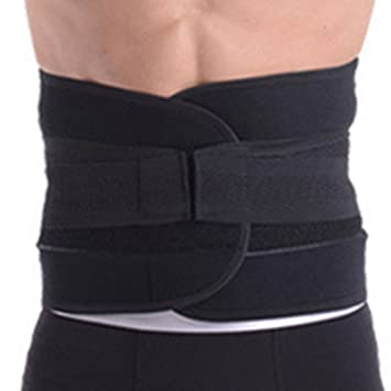 Aivtalk Unisex Taillengürtel Schutz Elastische Bauchgürtel Streifen Re-Shaping  Slimming Damen Bauchweg Grütel Atmungsaktiv Fitnessband