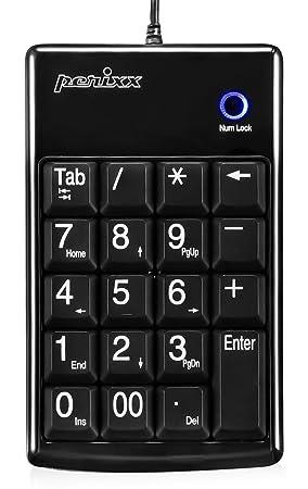 Perixx PERIPAD-201PLUS, Teclado numerico - USB - Negro - Slim de 19 teclas - Letra grande impresion - Teclas tijera alta calidad: Amazon.es: Informática