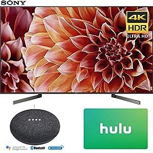 Sony XBR65X900F 65-Inch 4K Ultra HD Smart LED TV (2018 Model) with Google Home Mini (Charcoal) + Hulu $25 Gift Card