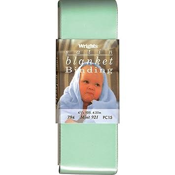 4.75-Yard Wrights 117-794-921 Single Fold Satin Blanket Binding Mint