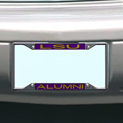 WinCraft NCAA Louisiana State University LSU Tigers ALUMNI 6x12 Inlaid Acrylic//Metal License Plate Frame