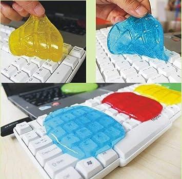 TotallyFashion Jelly Crystal Super Clean Pegamento no tóxico repetido Uso para el hogar/Coche/Tablet PC/Cellphone/3C Productos Digitales (Color enviado al ...