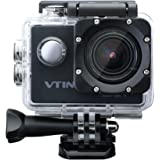 VicTsing Videocamera Azione Sportiva Impermeabile WIFI 1080P 12M, Videocamera Aczione Sport, Camera Action Sport 170 Gradi Ampio Angolo, 2.0 Pollici di Schermo LCD, Full HD, Sott'acqua 30m, Waterproof Videocamera, con 2 Batterie, Nero
