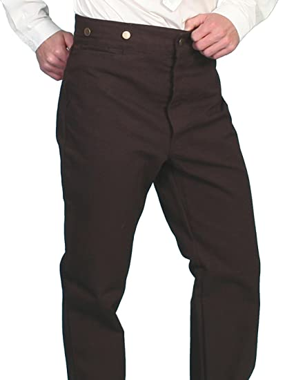 Victorian Men's Pants – Victorian Steampunk Men's Clothing Canvas Pants Tall  AT vintagedancer.com