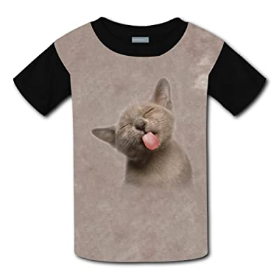 A Naughty Cat Light Weight T-Shirt 2017 The Latest Version For Kidsfree Postage