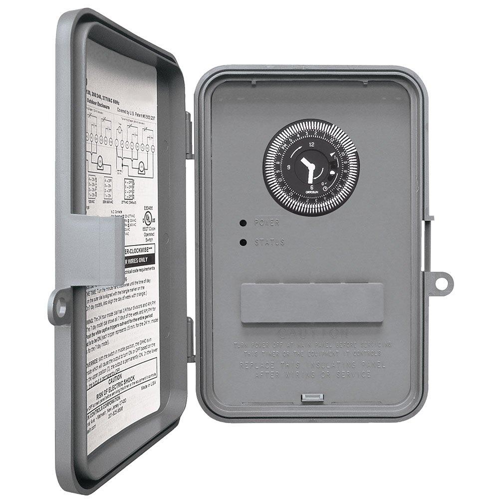 Intermatic WHAVQ4 DPST Electromechanical 24-Hour Timer