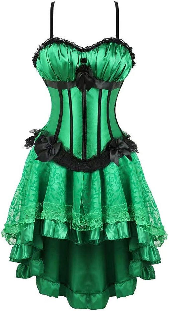 sexy Corsage Korsetts Kleid kurz Bustier Vollbrust mit Strapse