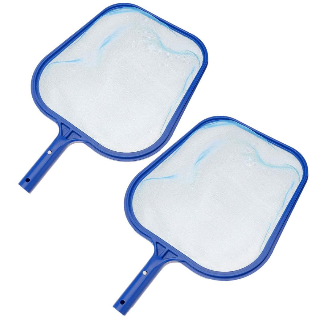 2Pcs Oucan Swimming Pool Leaf Catcher Leaf Rake Pool Skimmer-Fine Mesh Net-Leaf Skimmer Net for Cleaning Surface of Swimming Pools Hot Tubs Spas and Fountains(4329cm)