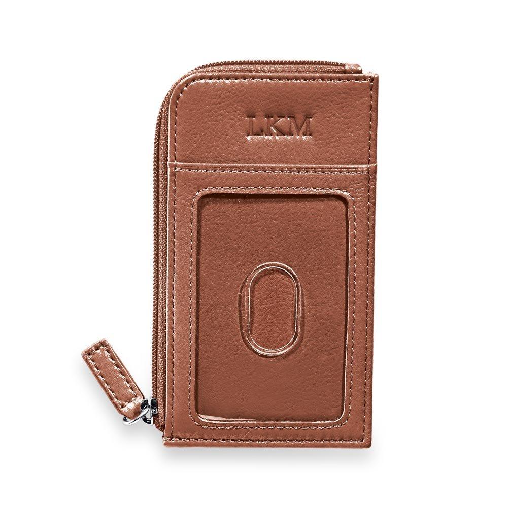 Levenger RFIDプライバシーフルグレインレザーパスケース付き財布 – パスポート財布 ブラウン B077XP65ZM シナモン