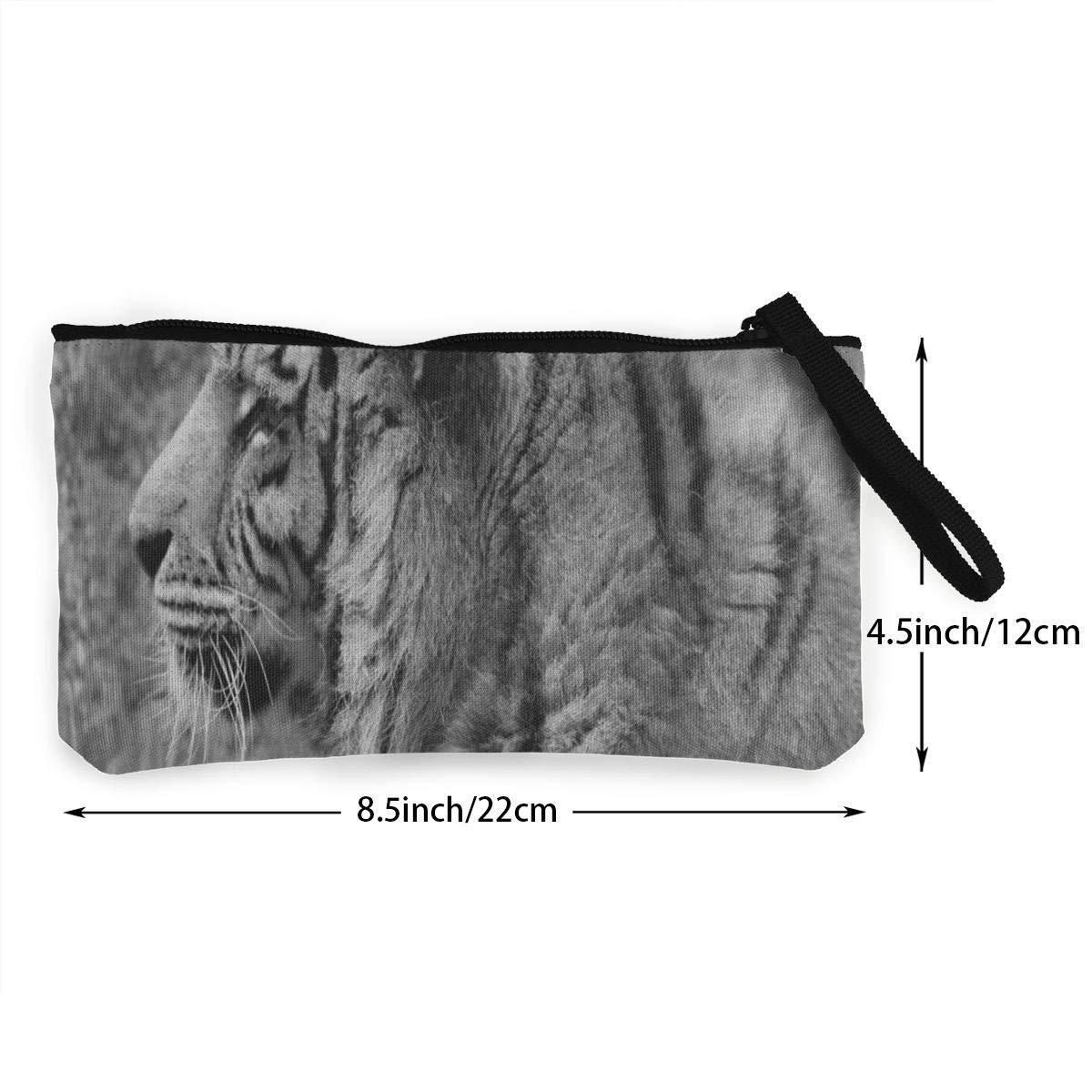 Amazon.com: Monedero de lona africano con diseño de tigre de ...