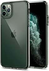 Spigen Coque iPhone 11 Pro Max [Ultra Hybrid] Bumper en TPU Souple, Dos en PC Rigide et Transparent, Protection - [Air Cushion] Coque Compatible avec iPhone Pro Max (2019)