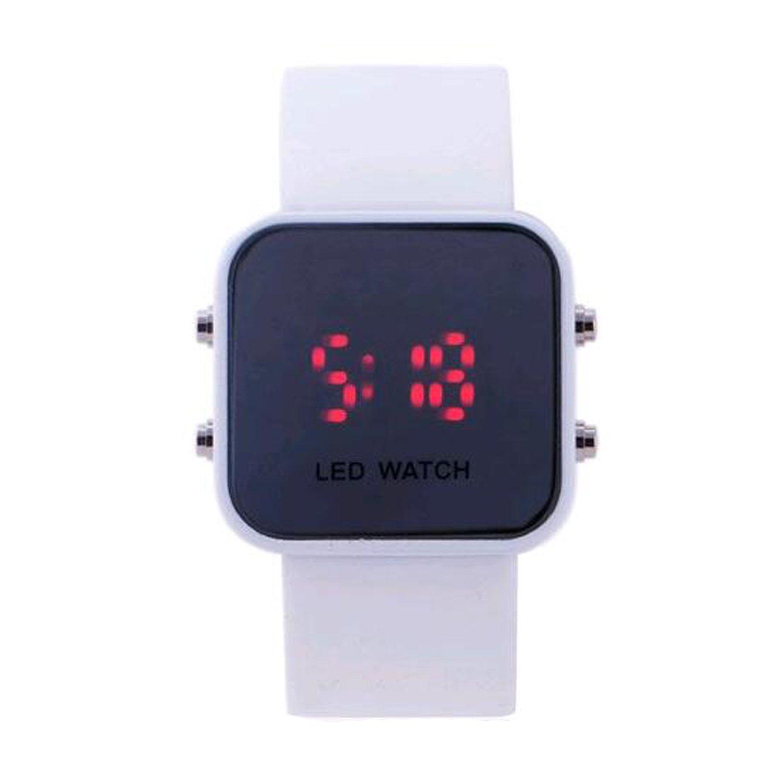 Amazon.com: Fashion New Men Women Unisex White Led Sport Watch Vintage Digital relogio reloj: Watches