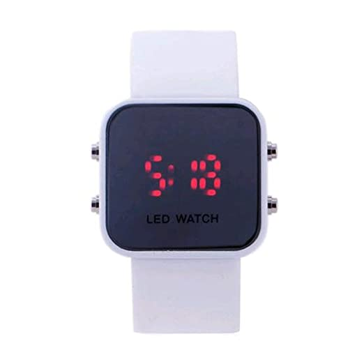 Fashion New Men Women Unisex White Led Sport Watch Vintage Digital relogio reloj