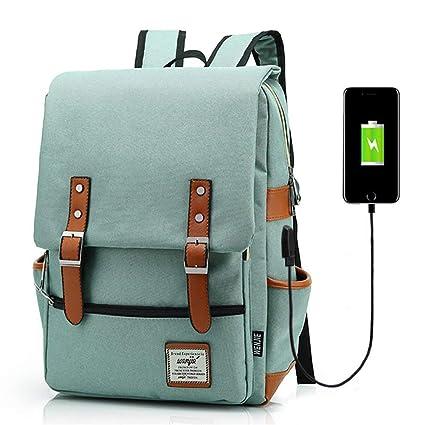 M-hwbb Mochila profesional para computadora portátil con puerto de carga USB, bolsa de