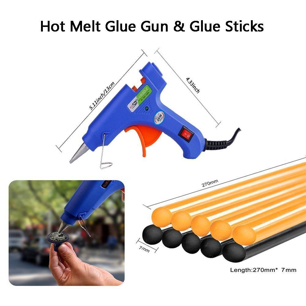 8 Glue Puller Eu Plug, Eu Adapter Not Included Tian 22Pcs PDR Car Body Paintless Dent Repair Removal Tool Kit with 20W Glue Gun Sprayer 2 Glue Shovel for Auto Dent Repair 10 Glue Sticks