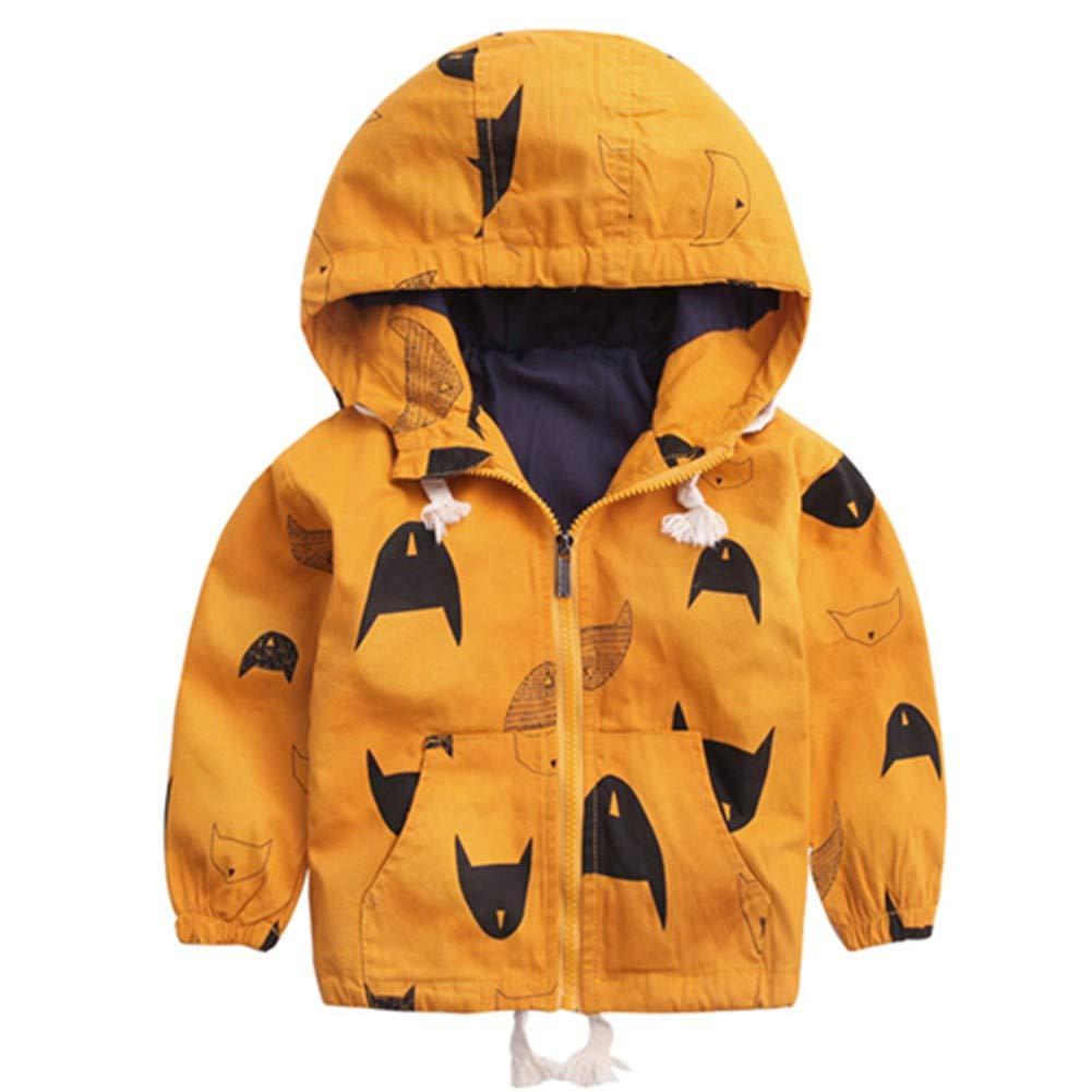 jaune 3T HCMONSTER Doudoune pour Enfants Vestes d'hiver pour Les VêteHommests De Garçon De Tranchée 2-10Y à Capuche SurvêteHommest Chaud Coupe-Vent Bébé Enfants Manteaux