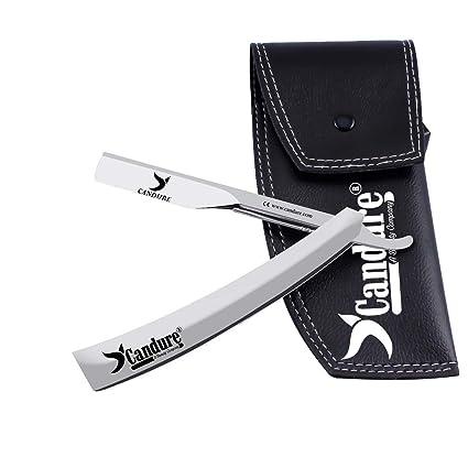 Cuchillo de peluquero de afeitar de los hombres de seguridad de la garganta de corte recto profesional