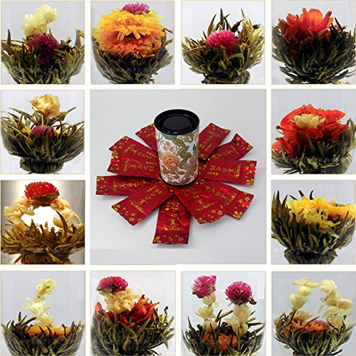 Blooming Tea Flower Balls Enchanting Beauty Organic Natural Hand-made Scented 12PCS