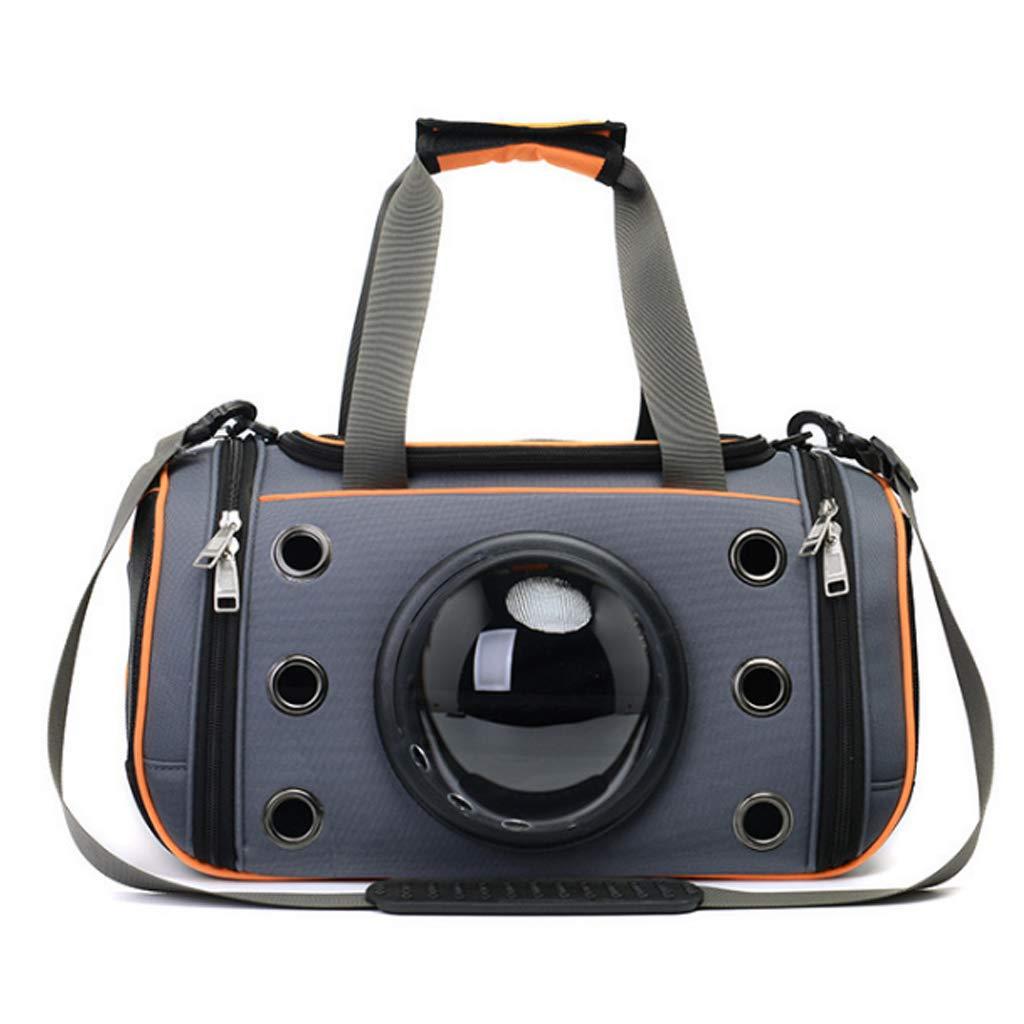 M GWM Pet Backpacks Pet Capsule Pet Bag Cat Dog Out Breathable Oblique Cross Bag Can Be Put Back (Size   M)