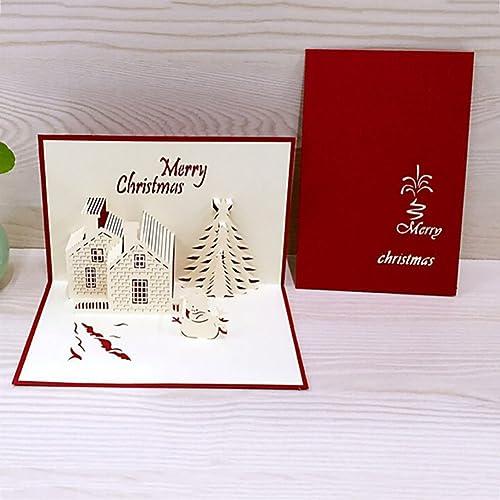 reefa christmas cards 3d pop up greeting card christmasxmas yearfestival