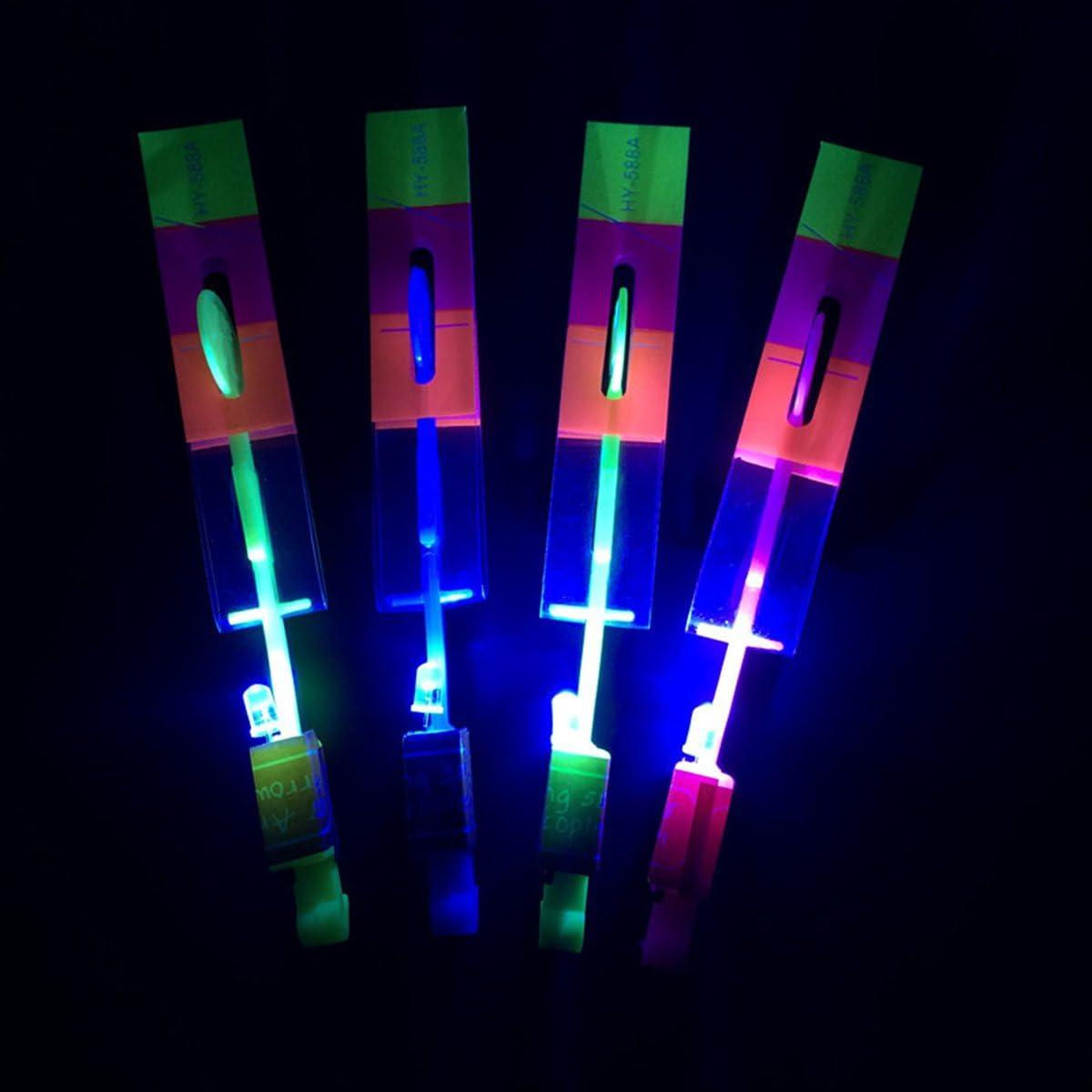 ideal como regalo Switty Juego de 48 casquillos para helic/ópteros con luz LED