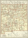 1937 Antique New Mexico Map Original Vintage Map of New Mexico Not a Reprint Home Decor Gallery Wall Art Birthday Wedding Gift #1233