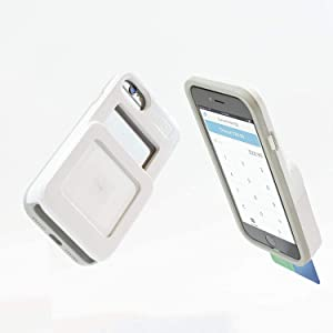 L7 Case for iPhone 6/7/8 and Square Credit Card Reader - White