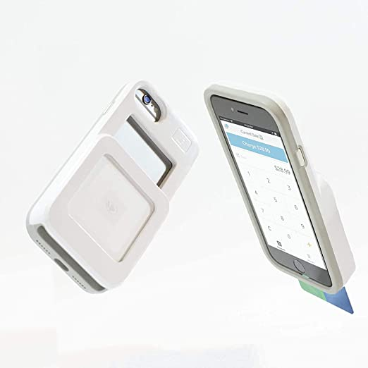 Amazon Com L7 Case For Iphone 6 7 8 And Square Credit Card Reader White