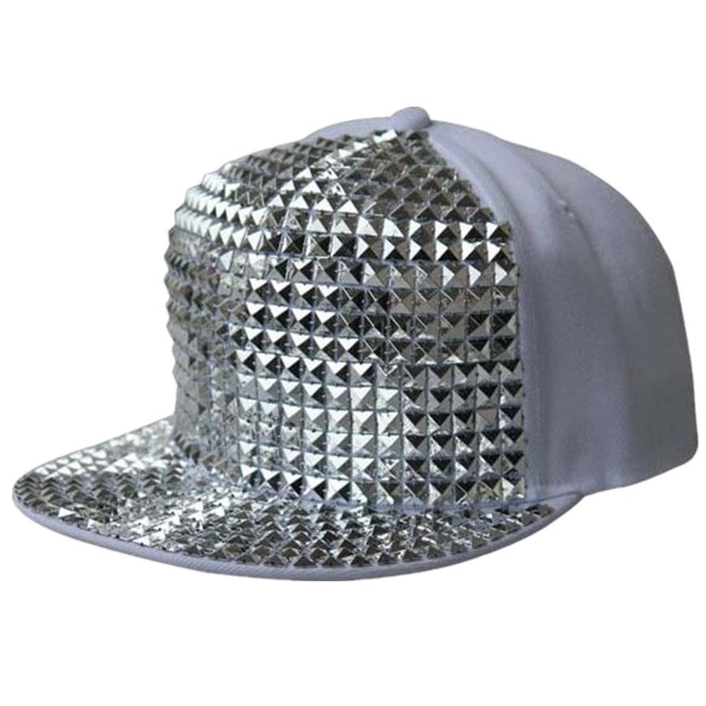 HAMANY Plastic Stud Rivet Spikes Flat Hat Hip-hop Baseball Cap Adjustable