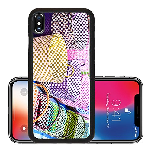 Liili Premium Apple iPhone X Aluminum Backplate Bumper Snap Case IMAGE ID 32361946 Colored Baskets at an Outside Market