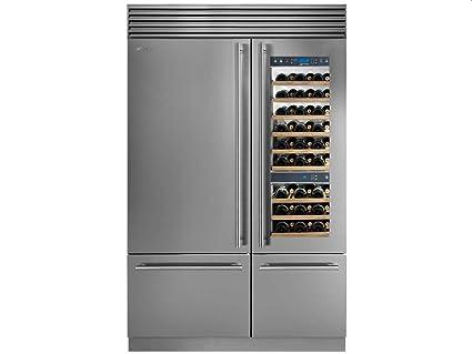 Kühlschrank Gefrierschrank Kombination : Smeg side by side wein kühl gefrier kombination edelstahl wf366rdx